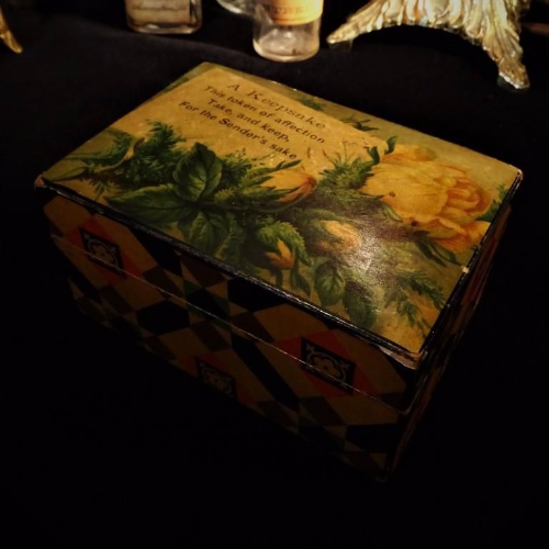 Antique Keepsake Box with Verse
