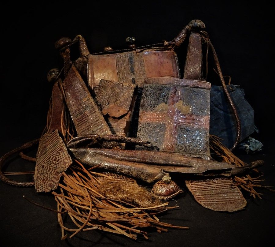 Tuareg Tribal Leather Bag and Unusual Accessories